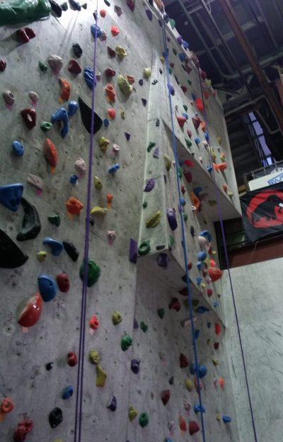 課題が増えたトップロープ壁